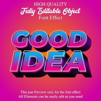 Modern bold 3d colorful editable font effect