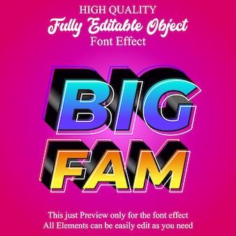 Modern bold 3d editable font effect
