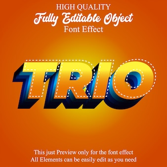 Modern bold 3d yellow orange editable font effect