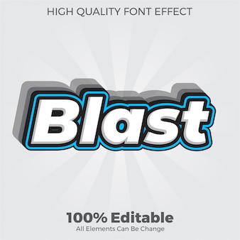 Modern bold blast text style editable font effect