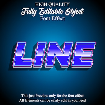 Modern bold blue glossy text style editable font effect