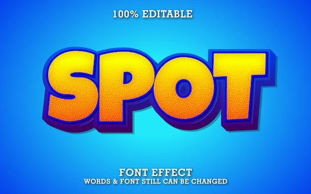 Modern bold cartoon text effect