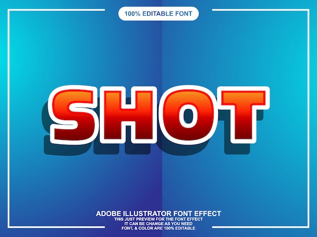 Modern bold editable illustrator text effect