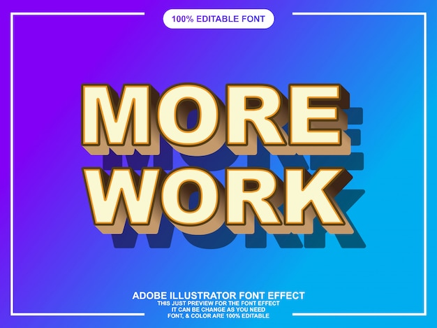 Modern bold editable text effect for illustrator
