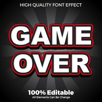 Modern bold game text style editable font effect