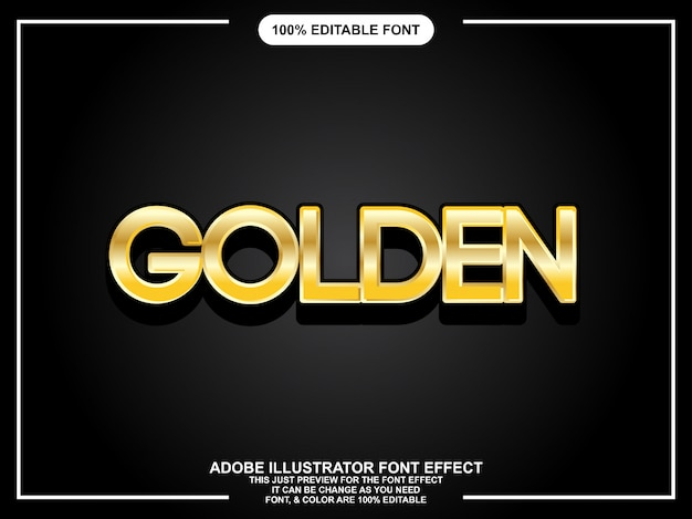 Modern bold golden graphic style easy editable font