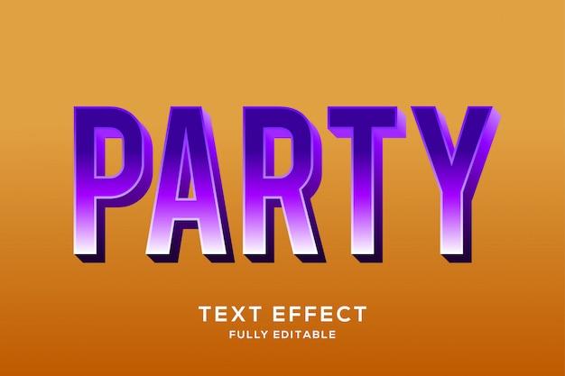 Современный жирный фиолетовый текстовый эффект