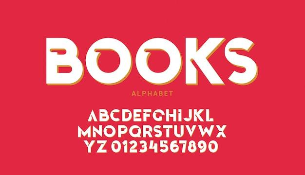 Modern bold round alphabet