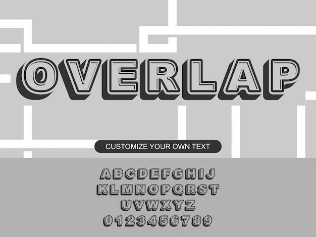 Modern bold trendy editable outline typography
