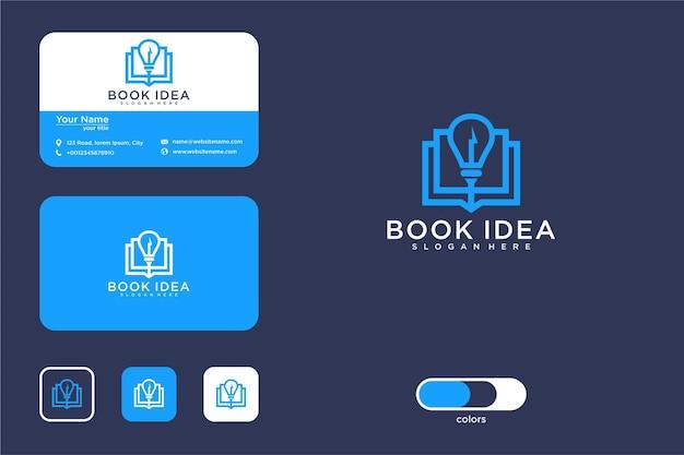 現代の本のアイデアのロゴデザインと名刺