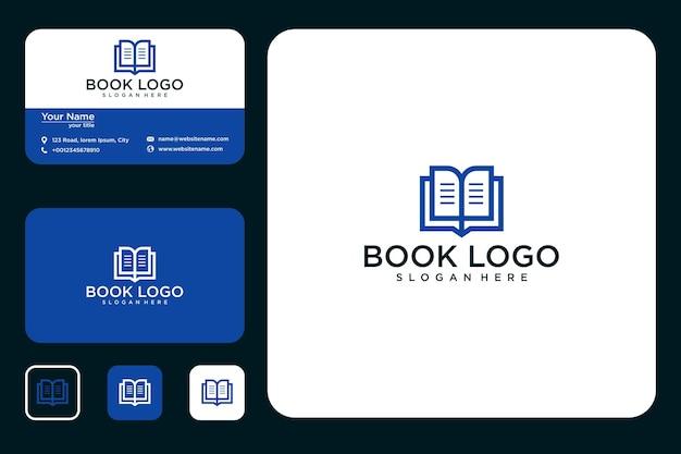 Современный дизайн логотипа книги и визитной карточки