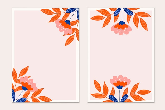 モダンな植物の招待カード