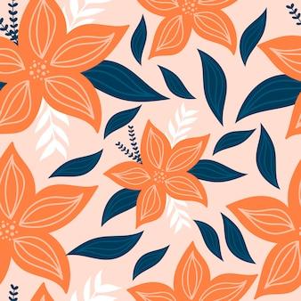 Modern botanical seamless pattern
