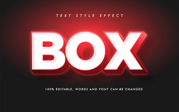 Modern box bold text style effect