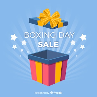 Modern boxing day compositio