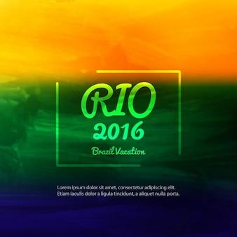 Современная бразилия цвета фона акварель