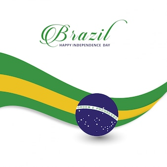 Modern brazil independence day design