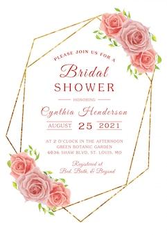 Modern bridal shower