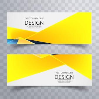 Modern bright banners