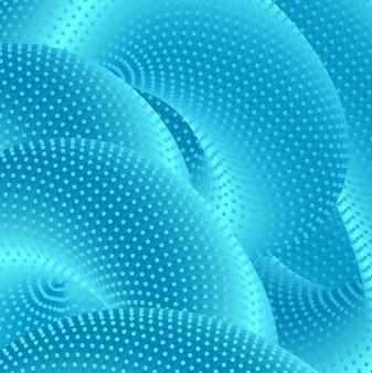 Современные яркие синие 3d-формы творческих фигур