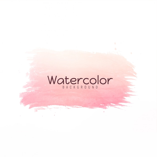 Modern bright color brush stroke design