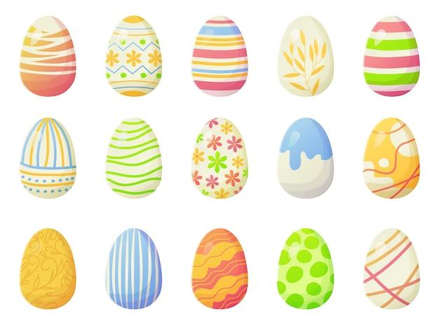 현대 밝은 그라데이션 부활절 달걀 선, 점 및 기타 화려한 설정