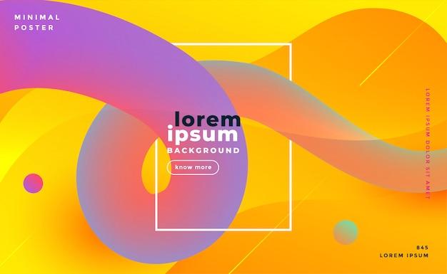 Modern bright gradient loop background