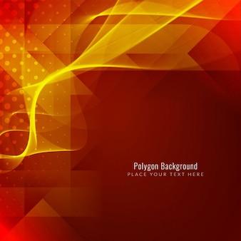 Modern bright polygonal background