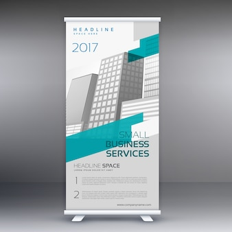 Modern bright roll up banner template