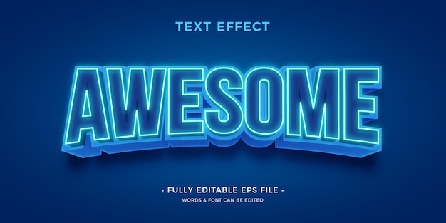 Modern bright text effect