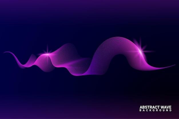 Modern bright wave dark vector background