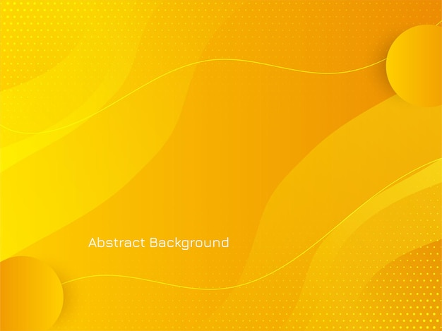 Modern bright yellow color wave style background vector