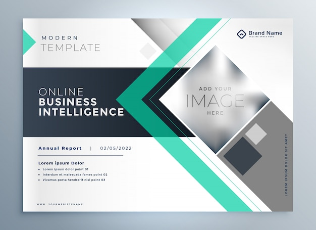 Modern brochure for business presentation