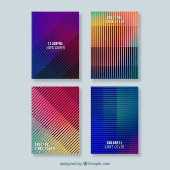 Modern brochure collection with abstract design