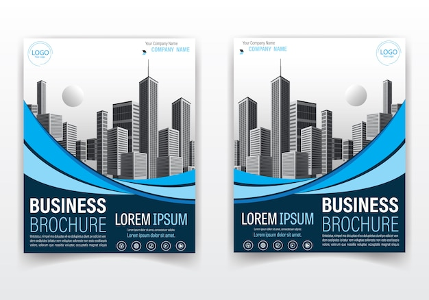 Modern brochure and cover design blue color