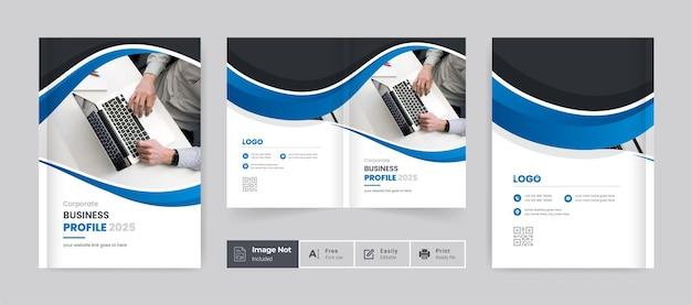 Modern brochure cover template design company profile cover design bifold brochure layout