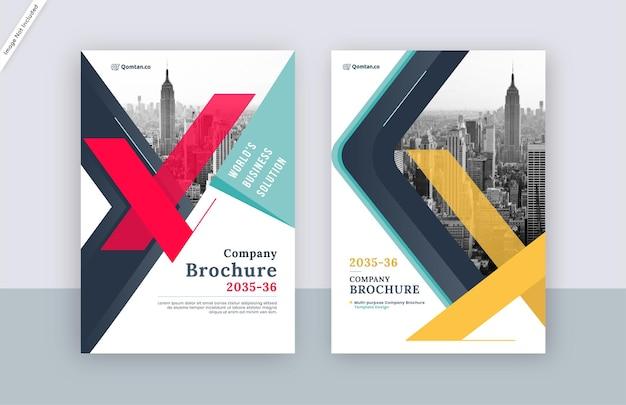 Modern brochure cover template design