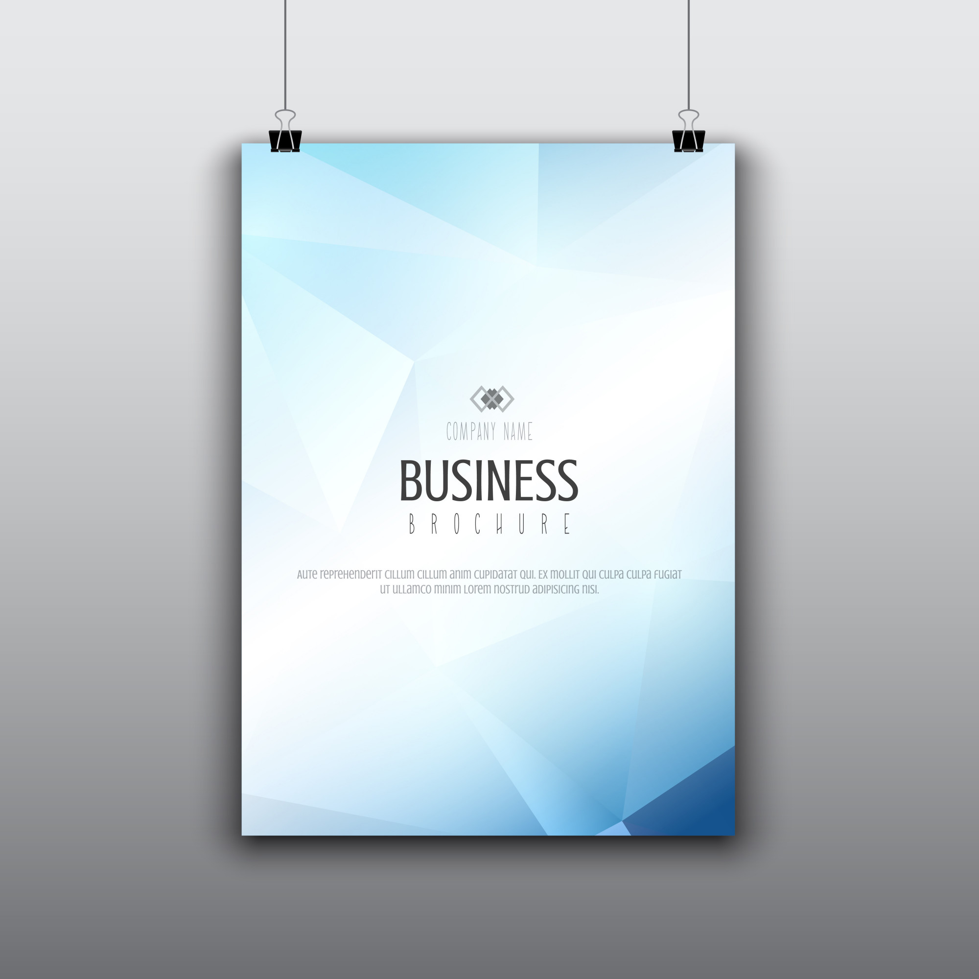 Modern brochure design with low poly design
