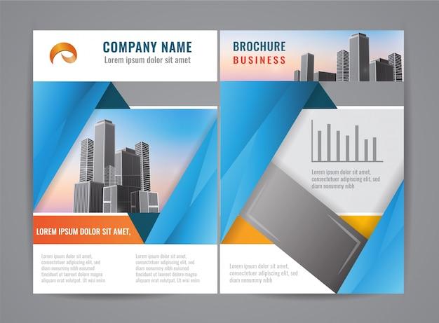 Modern brochure flyer design template.