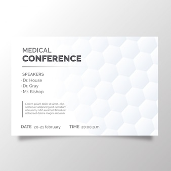Modern brochure of medical conference