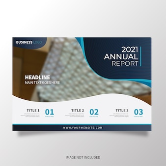 Modern brochure template horizontal with wavy shapes