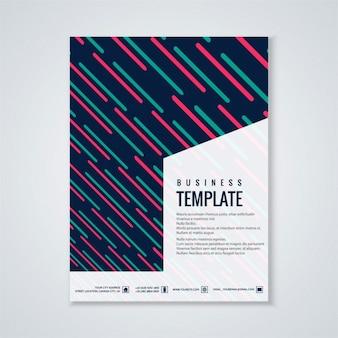 Brochure colorful commercio