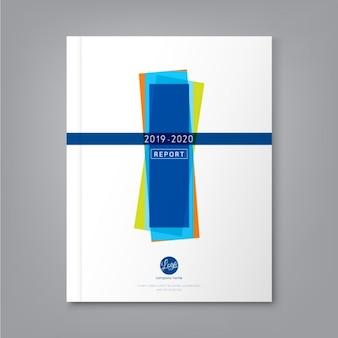 ビジネス年次報告書表紙のパンフレットチラシポスターのための抽象最小限の幾何学的形状のデザインの背景