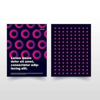 Современная брошюра с кругом
