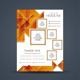 Modern brochure with polygons
