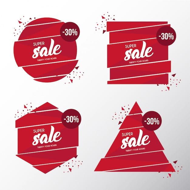 Modern broken banner sale template