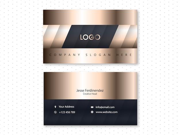 Современная бронзовая роскошная визитная карточка