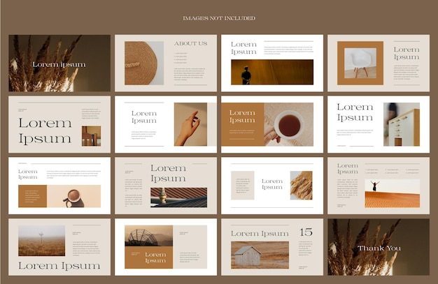 Modern brown presentation layout design