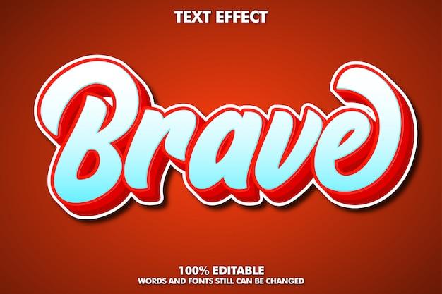 현대 브러시 글꼴 효과