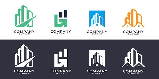 현대 건물 부동산 로고 디자인 컬렉션